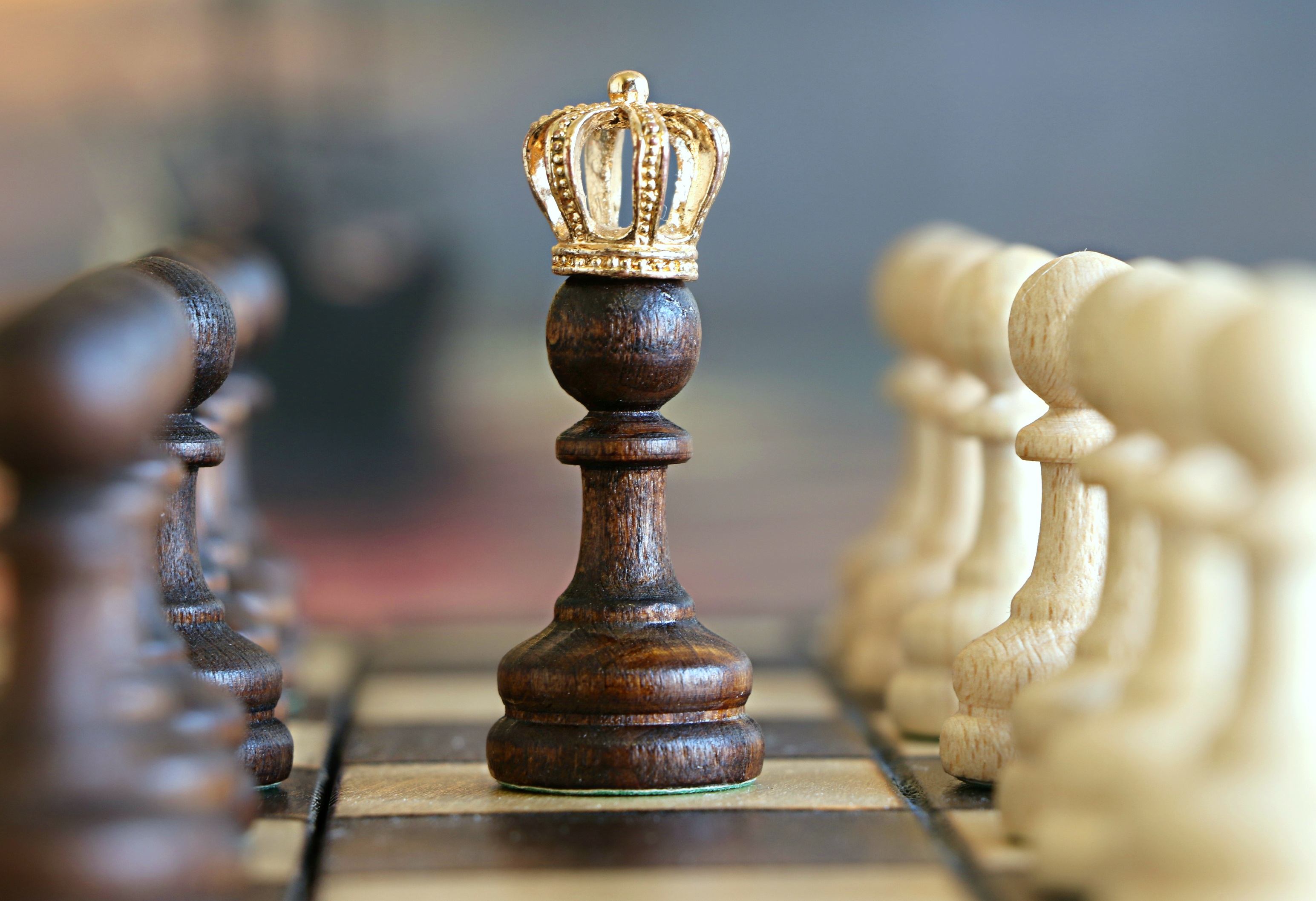 chess piece wearing crown symbolizing the game of claims